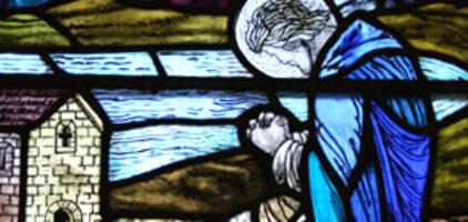 Prayer - Stained glass window, Portree Parish Church